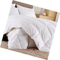 Puredown White Goose Down Comforter-600 Fill Power-King/Cal