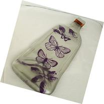Purple Butterflies Painted on Flat Wine Bottle Tray