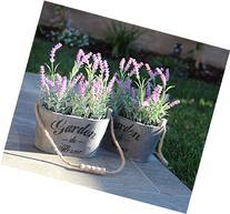 Purple Silk Floral Arrangements Faux Lavender Flower Plant