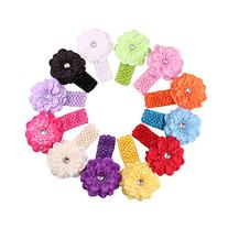 Qandsweet Baby Girl's Headbands with Flower