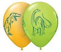 "Qualatex 11"" Dinosaurs In Action Assortment Latex Balloons"