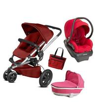 Quinny - Buzz Xtra Travel System with Bassinet and Bag - Red