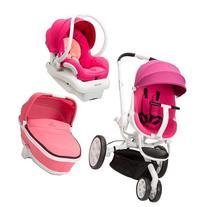Quinny Moodd Stroller Travel System, Pink Passion/White with