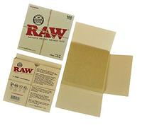 "RAW Unrefined Parchment Paper Squares 5"" x 5"" 100 Sheet Pack"