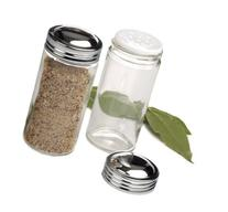 RSVP Clear Glass Spice Jar, Set of 6