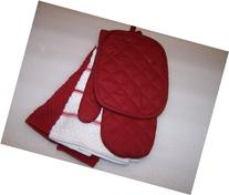 Red Sedona Kitchen Towel Set 5 Piece- Towels, Pot Holders,