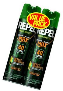 Repel 33802 2 to 6-1/2-Ounce Sportsmen Max Formula Insect