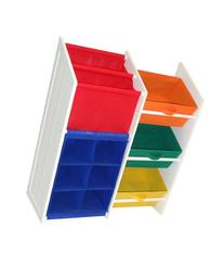 RiverRidge Kids Super Storage with 3 Primary Color Bins,