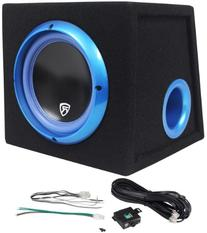 "Rockville RVB8.1A 8"" 300W Powered Amplified Car Subwoofer"