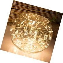 Oak Leaf 101009 60-LED Starry Fairy String Lights Silver