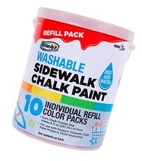 RoseArt Sidewalk Chalk Paint Bucket Refill 10ct
