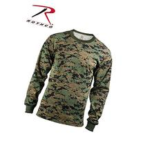 Rothco Long Sleeve T-Shirt, Woodland Digital, Small