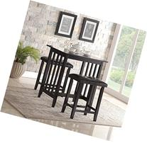 Roundhill Furniture 3-Piece Counter Height Dining Set with