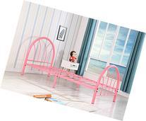 Roundhill Furniture Belledica Metal Bed Set with Headboard,