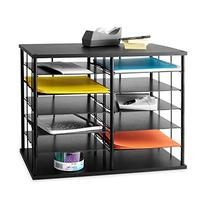 "Rubbermaid 12-Slot Organizer, 21W x 11 3/4""""D x 16""""H, Black"