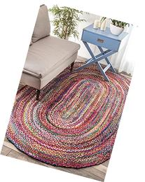 nuLOOM Handmade Braided Tammara 3 by 5 Feet Cotton Oval Area