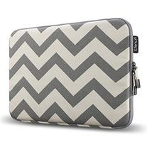 Runetz - 15-inch Chevron Gray Soft Sleeve Case Cover for