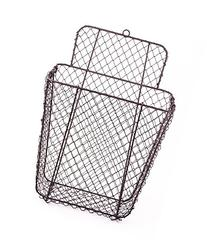 Rustic Hanging Wall Pocket Wire Mail/Storage Basket