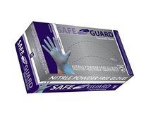 SAFEGUARD Nitrile Powder Free Gloves, Blue, Medium, 1000