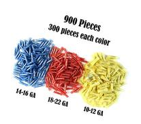 SCOSCHE NYLON BUTT WIRE CRIMP CONNECTOR ELECTRICAL 900 pcs