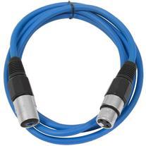 SEISMIC AUDIO - SAXLX-6 - 6' Blue XLR Male to XLR Female
