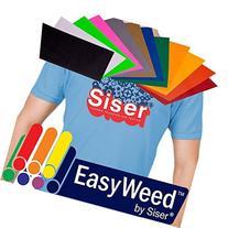 "SISER EasyWeed Heat Transfer Vinyl, 12 x 15"" 12-Color"