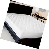SLEEP TITE Quilted Mattress Pad with Damask Cover and Down