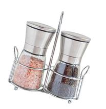 Premium Stainless Steel Salt and Pepper Grinder Set With