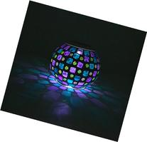 Samyo Solar Powered Mosaic Color Changing Rechargeable LED