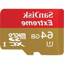 SanDisk - SDSDQX-064G-A46A - 64GB Extreme Plus Micro SD