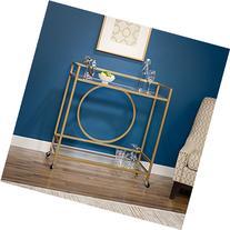 Sauder International Lux Bar Cart in Satin Gold