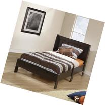 Sauder Parklane Twin Platform Bed with Headboard, Cinnamon