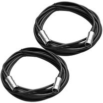 Seismic Audio - 2 Pack - 5 Pin MIDI Cable 20 Feet - Metal