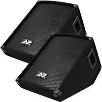 "Seismic Audio - SA-10MT - Pair of 10"" Floor / Stage Monitors"