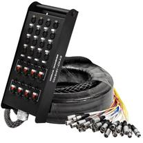 Seismic Audio - SAXQ-16x8x50 - 16 Channel 50' XLR Snake