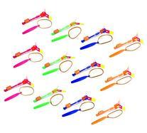 Set of 12 Flashing LED Sling Shot Flare Arrow Helicopter
