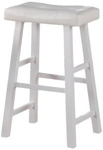 "Set of 2, Electrik Series Bar Chair - Seat 30""H - in White"