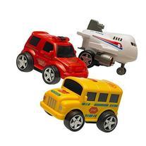 Set of 3 Friction Powered Plastic Vehicle Stocking Stuffers