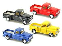 Set of 4 - 1955 Chevy Stepside Pick-Up 1/32