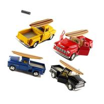 Set of 4: 5 1955 Chevy Stepside Pickup with Surfboard 1:32