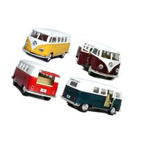 "Set of 4: 5"" Classic 1962 Volkswagen Van 1:32 Scale"