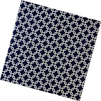 SheetWorld Fitted Cradle Sheet 18 x 36 - Navy Links - Made