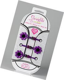 Shoeglits - Elastic No-tie Laces - Purple Flowers