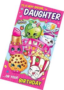 Shopkins to a very special daughter birthday card