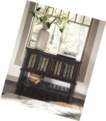 Signature Design by Ashley Mestler Rustic Brown Console