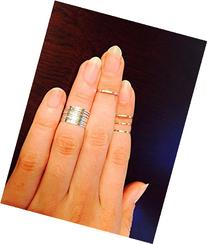 Silver knuckle rings, midi ring