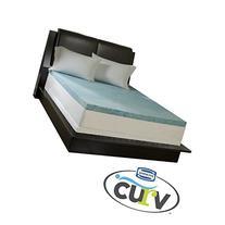 Simmons Curv 3-inch Flat Gel Memory Foam Mattress Topper -