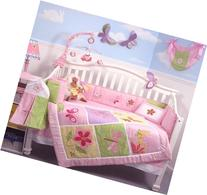 SoHo Butterflies Meadows Baby Crib Nursery Bedding Set 13