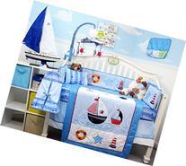 SoHo Ship Ahoy Baby Crib Nursery Bedding Set 14 pcs