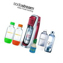 SodaStream Fountain Jet Soda Maker in Red with Exclusive Kit